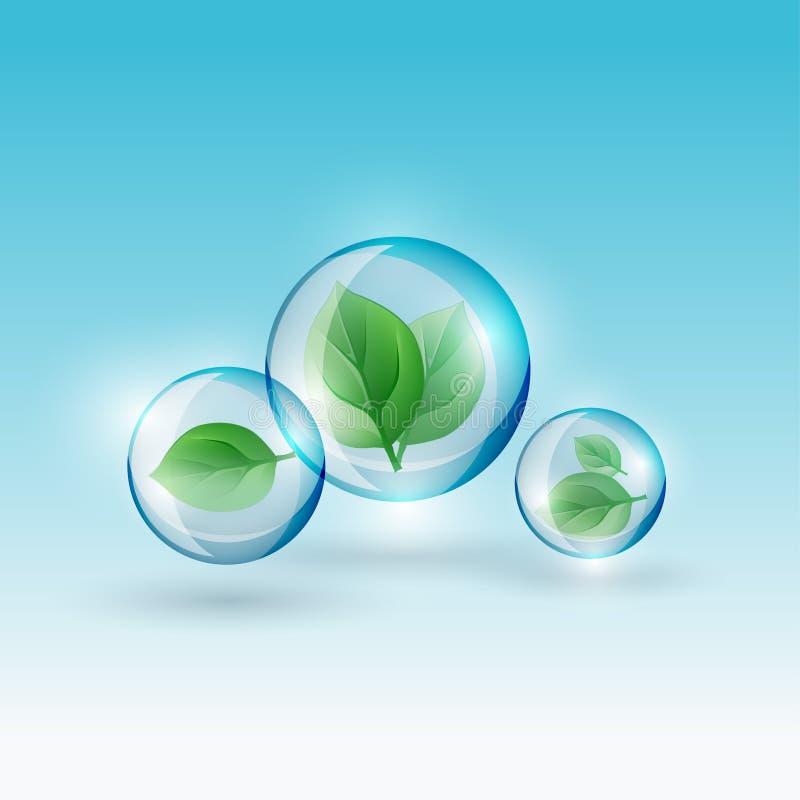 Bio bolha de 02 Infographics ilustração stock