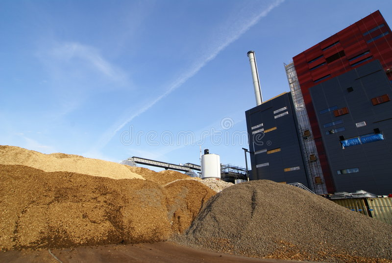 Bio brandstofelektrische centrale royalty-vrije stock afbeelding