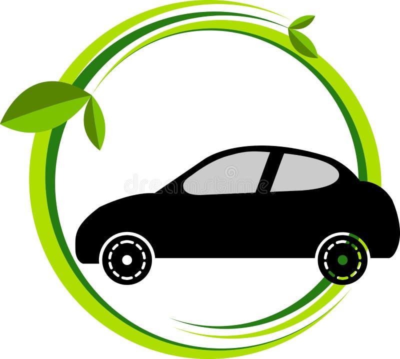 Bio car logo. Illustration art of a bio car logo with isolated background royalty free illustration