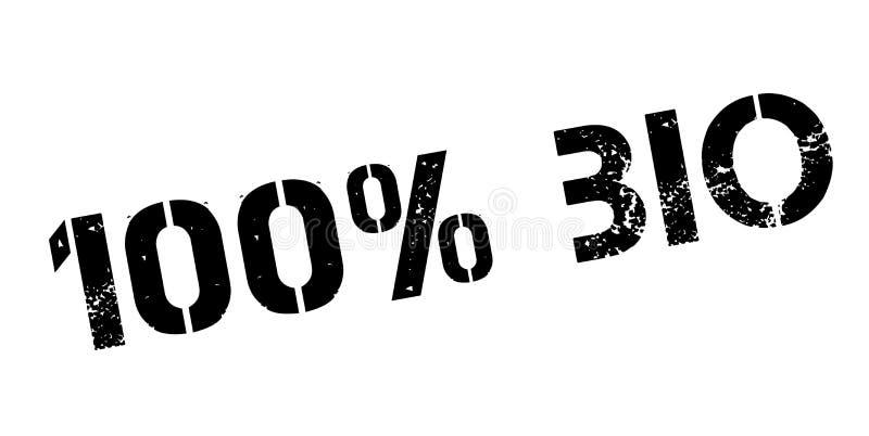 bio carimbo de borracha de 100 por cento ilustração royalty free