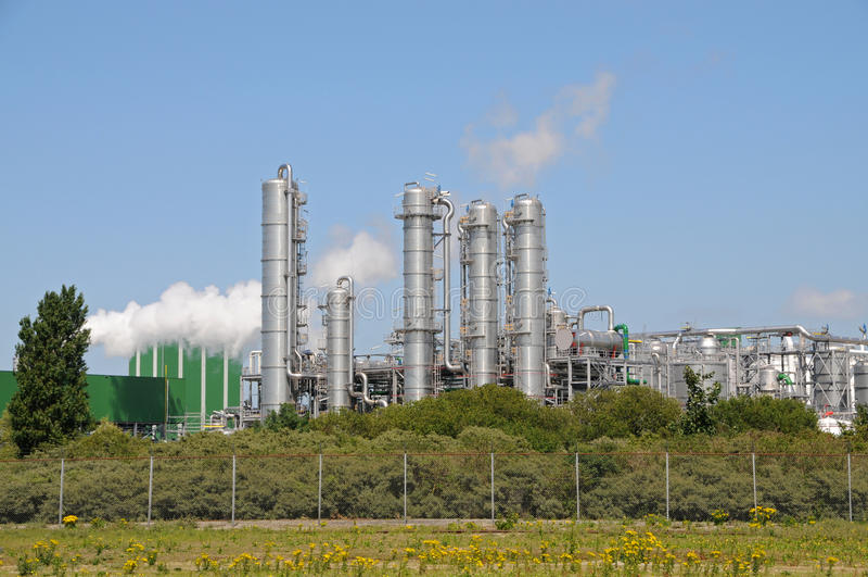 Bio centrale d'éthanol photos libres de droits