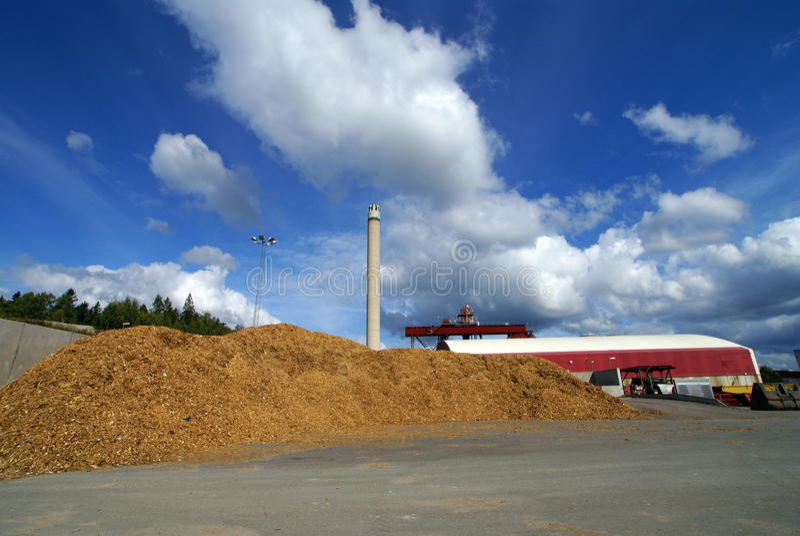 Bio- centrale elettrica del combustibile fotografie stock