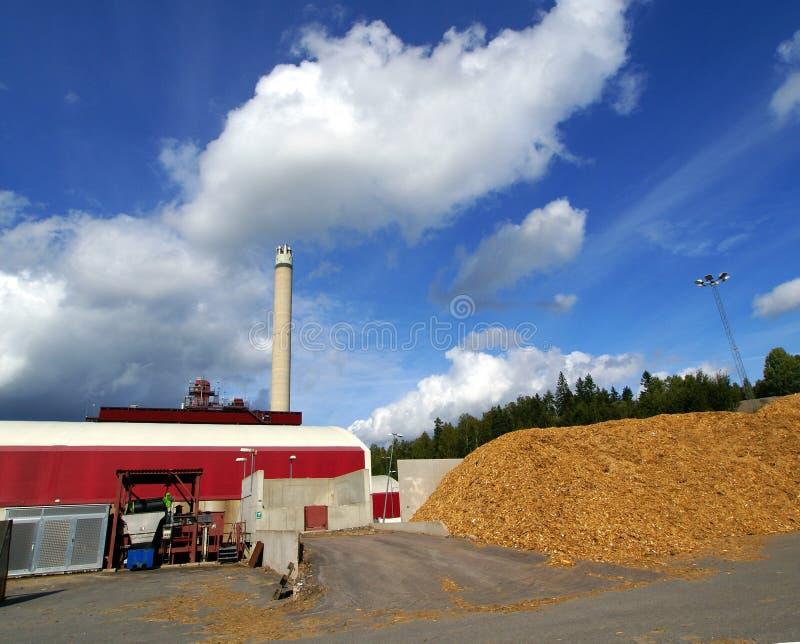 Bio- centrale elettrica del combustibile fotografia stock