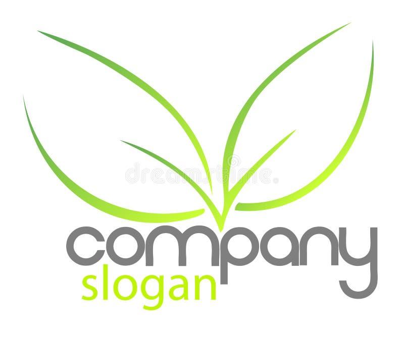 Bio companhia do logotipo ilustração stock