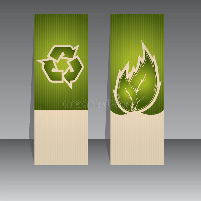 Bio conceito da etiqueta ilustração stock