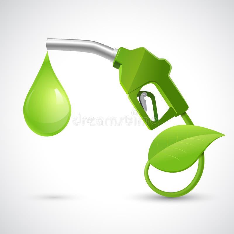Bio concept de logo de carburant illustration stock