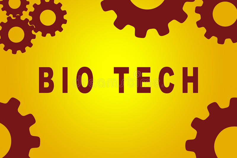 Bio concept de technologie illustration stock