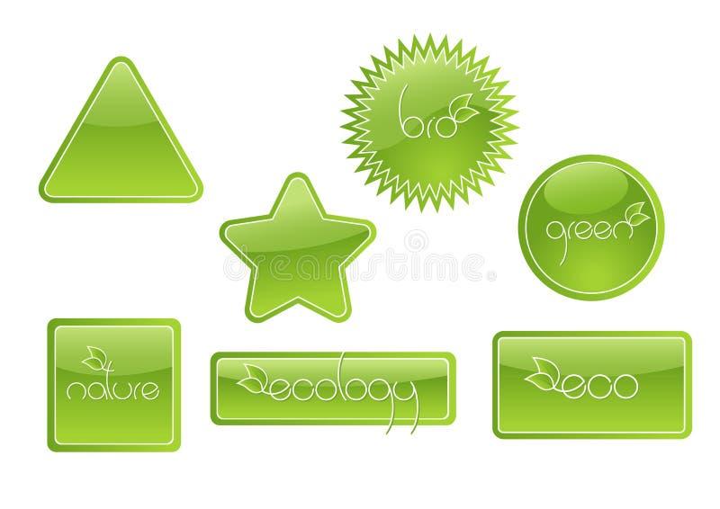 Bio conjunto de escritura de la etiqueta. Vector libre illustration