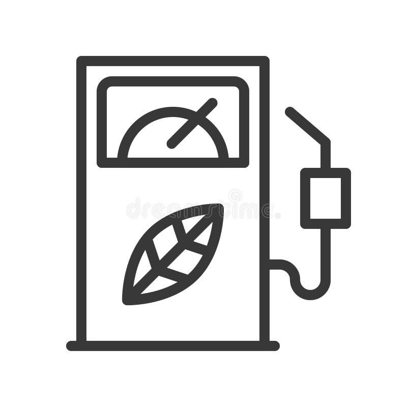Bio distribuidor do combustível, ícone do conceito da energia limpa ilustração royalty free