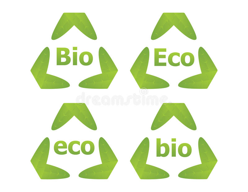 Download Bio and Eco labels stock vector. Image of idea, ecolabel - 14742937