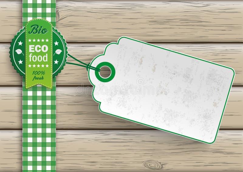Bio-Eco-Lebensmittelpreis-Aufkleber stock abbildung