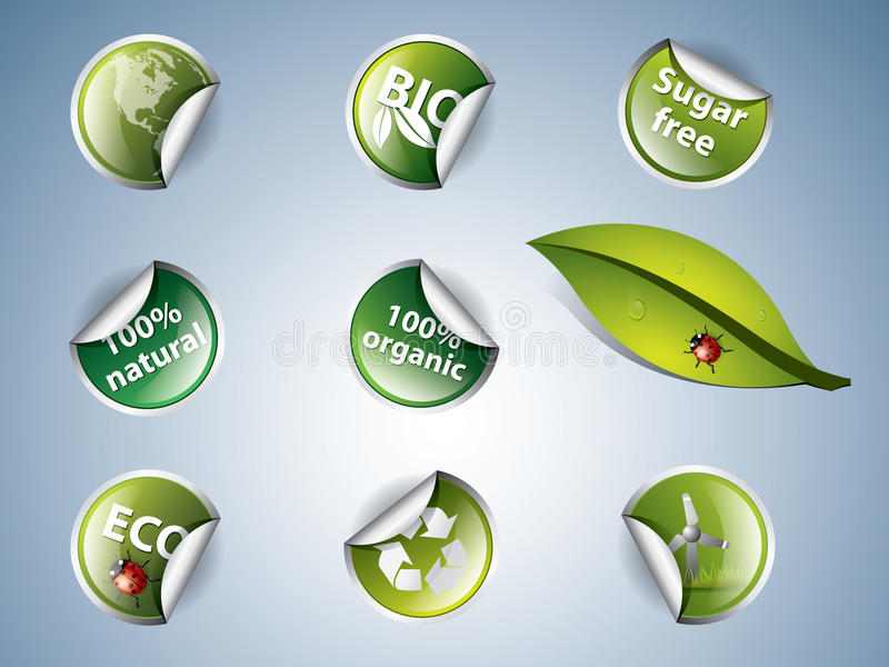Download Bio and eco stickers stock vector. Illustration of recycle - 20834425