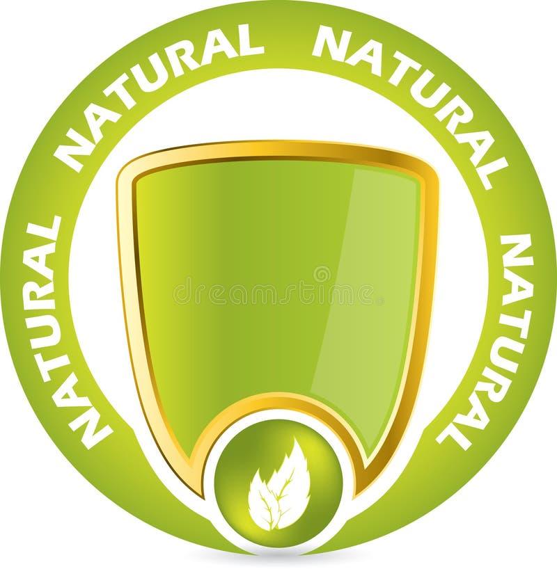 Bio emblema da garantia do produto ilustração royalty free