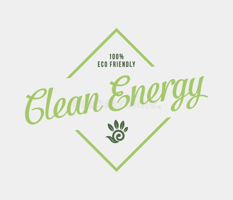 Bio energia limpa ilustração stock