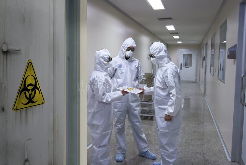 Bio equipe do perigo imagens de stock