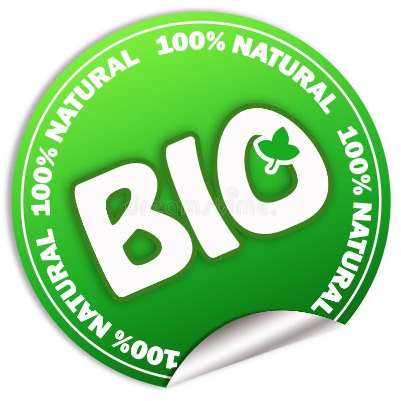 Bio etiqueta natural ilustração royalty free