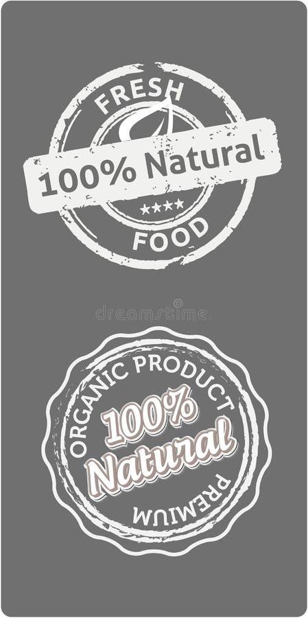 Bio etiquetas naturales de la calidad ilustración del vector