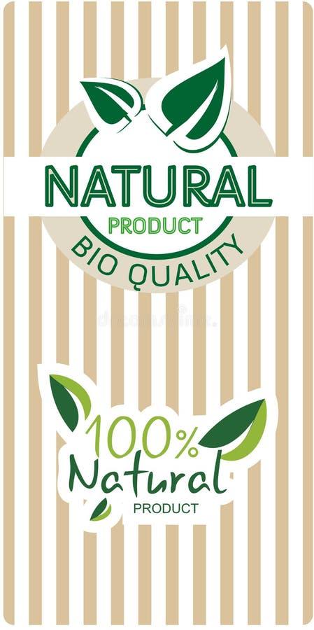 Bio etiquetas naturales de la calidad libre illustration