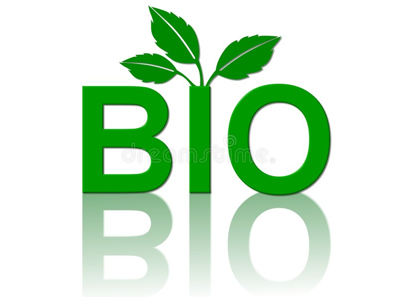 Bio foods concept illustration stock illustration