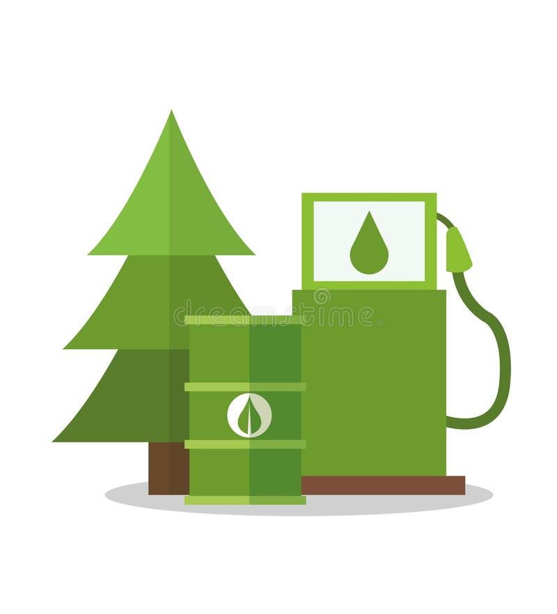 Bio fuel design. Bio fuel icon. Ecology renewable and conservation theme. Colorful design. Vector illustration royalty free illustration