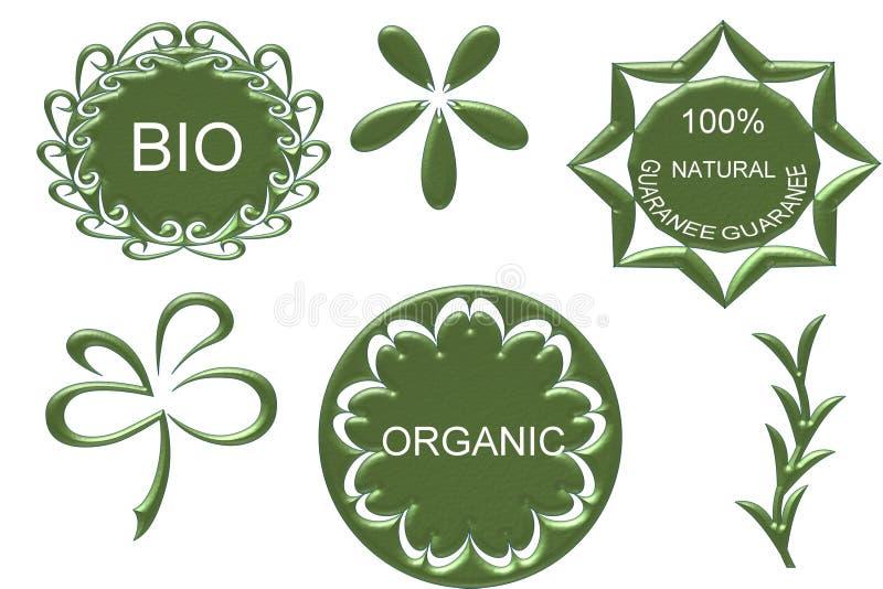 Bio graphisme normal organique illustration libre de droits
