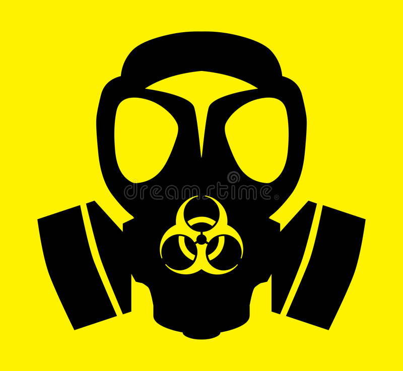 Bio Hazard Gas Mask Symbol Stock Illustration Illustration Of