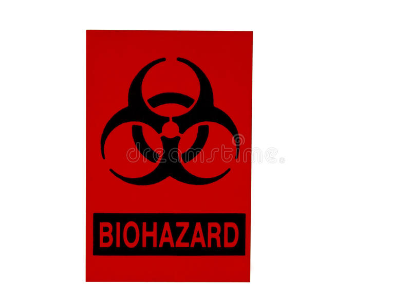 Bio-hazard sign isolated on white stock photography