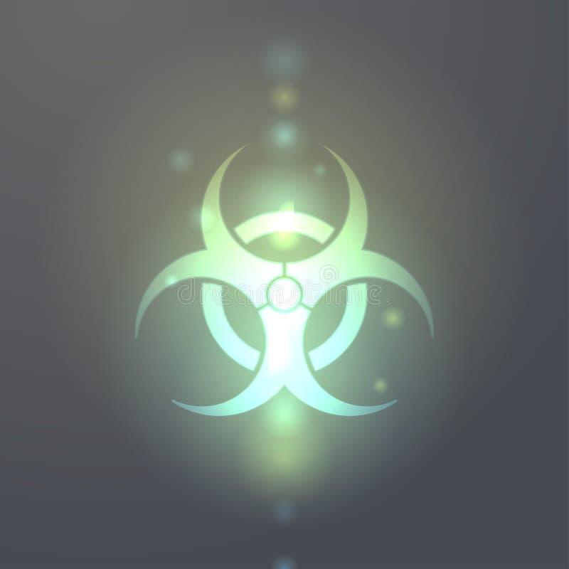 Bio-hazard symbol icon royalty free illustration