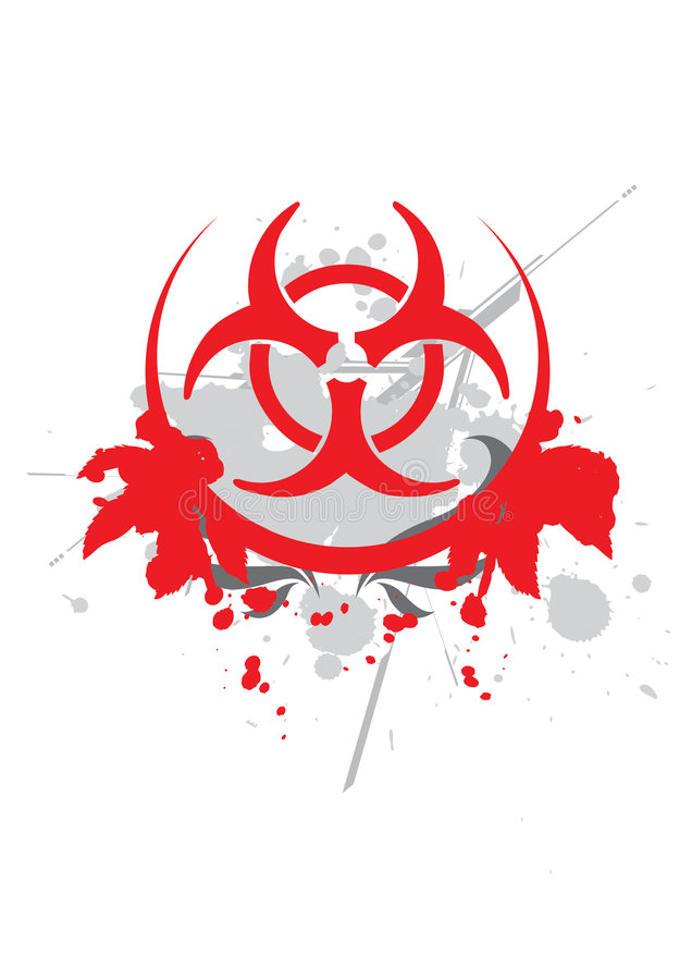 Bio hazard symbol - vector royalty free illustration