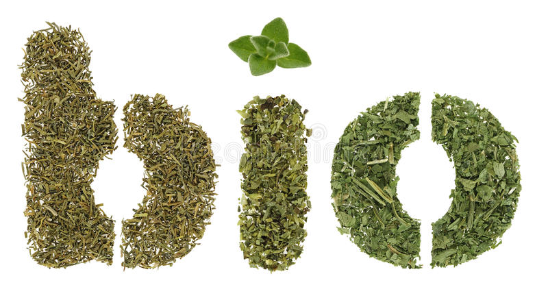 Bio herbs stock photo