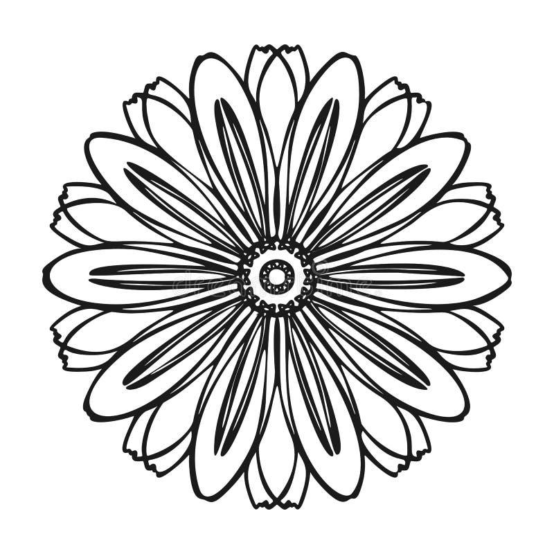 Bio icône de fleur d'herbe, style simple illustration de vecteur