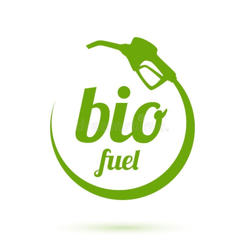 Bio- icona del combustibile illustrazione vettoriale