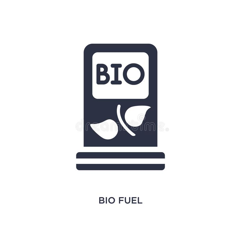 bio icono del combustible en el fondo blanco Ejemplo simple del elemento del concepto de la ecología ilustración del vector