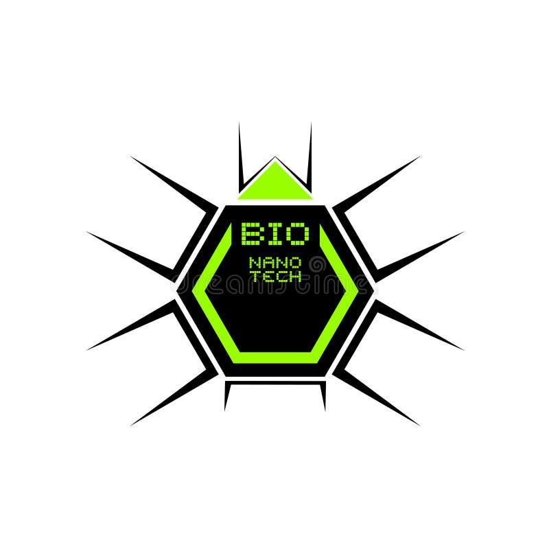 Bio icono nano de la tecnología stock de ilustración
