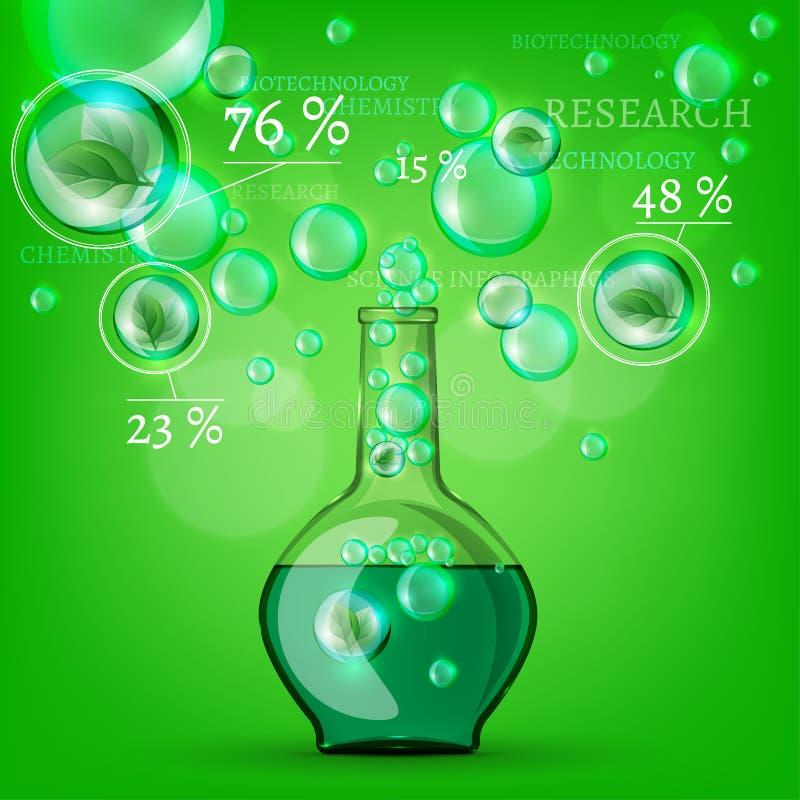 Bio infographics illustration stock