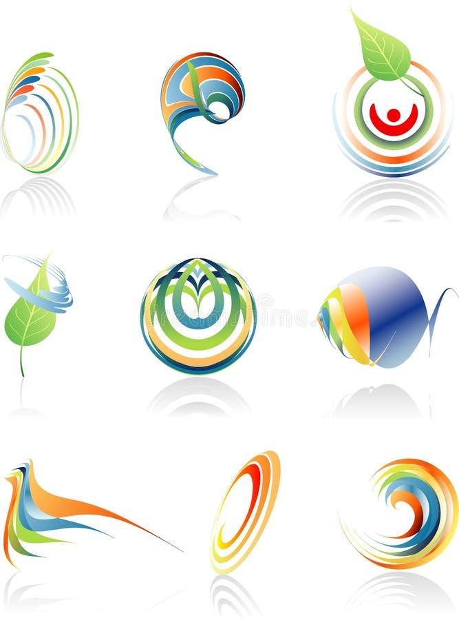 Bio insignias ilustración del vector