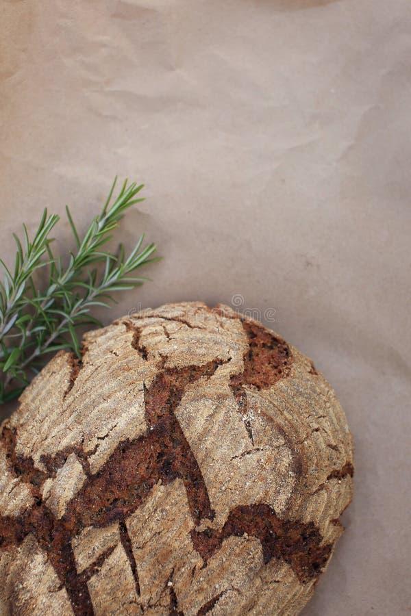 Bio- intero pane del grano fotografia stock