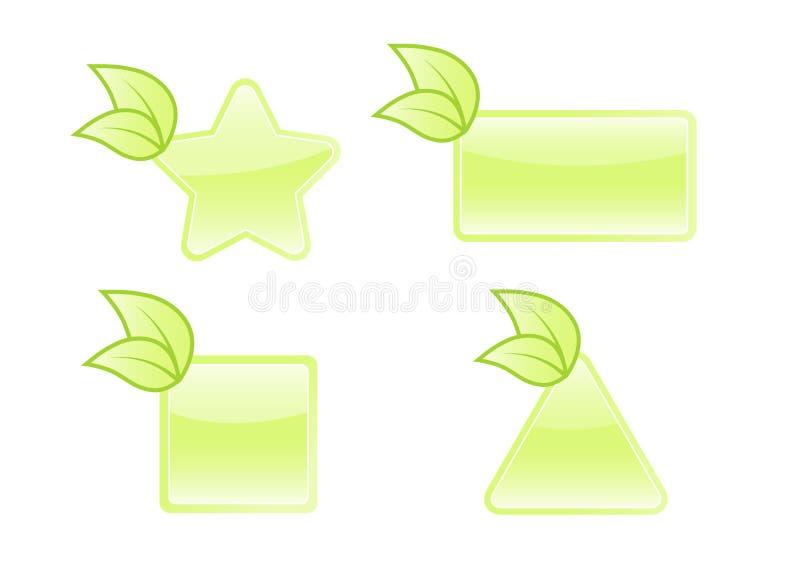 Bio jogo de etiqueta. Vetor ilustração royalty free