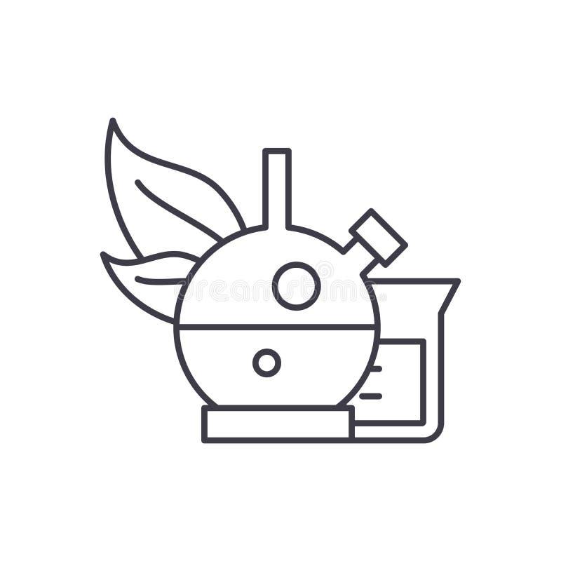 Bio- linea concetto di chimica dell'icona Illustrazione lineare di bio- vettore di chimica, simbolo, segno illustrazione di stock