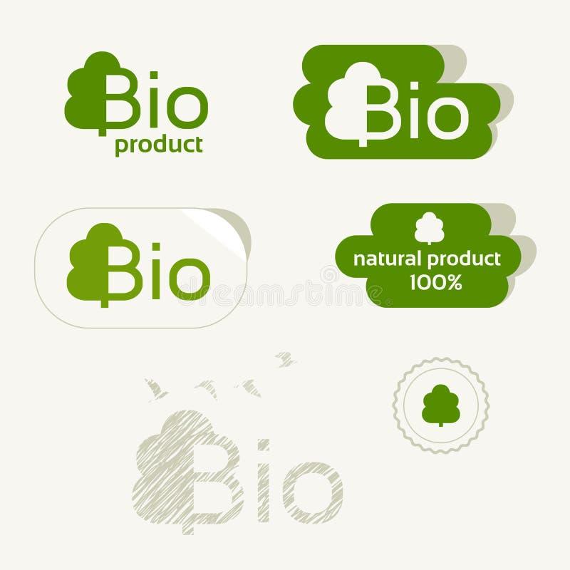 bio logo label d 39 eco signe de produit naturel ensemble organique d 39 ic ne illustration de. Black Bedroom Furniture Sets. Home Design Ideas