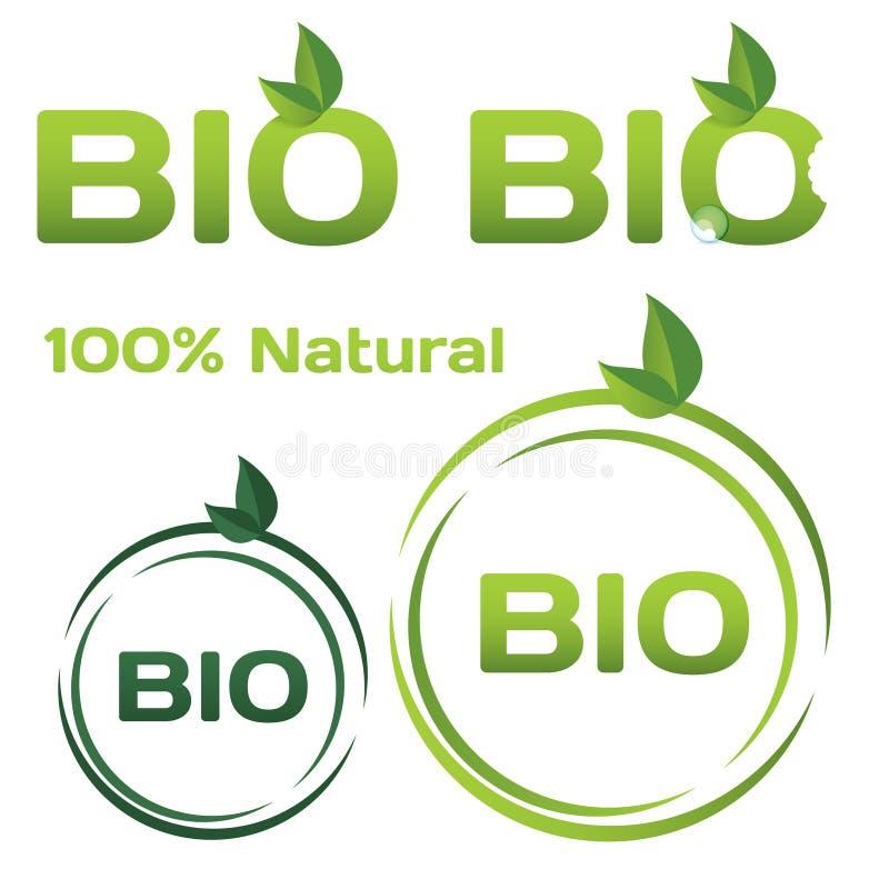 Bio logos illustration libre de droits