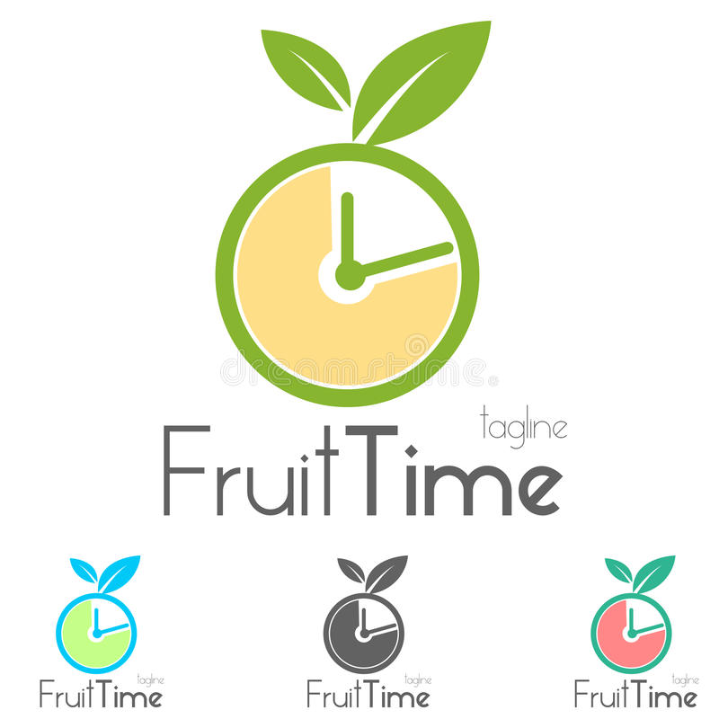 Bio logotipo de la fruta stock de ilustración