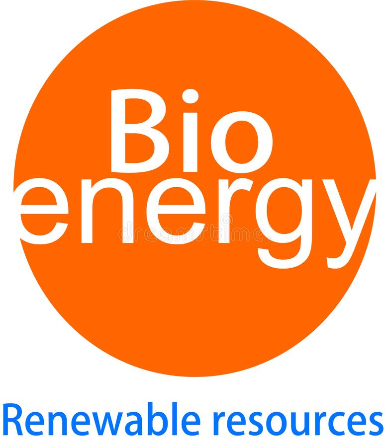 Bio logotipo y desaign de la energía ilustración del vector