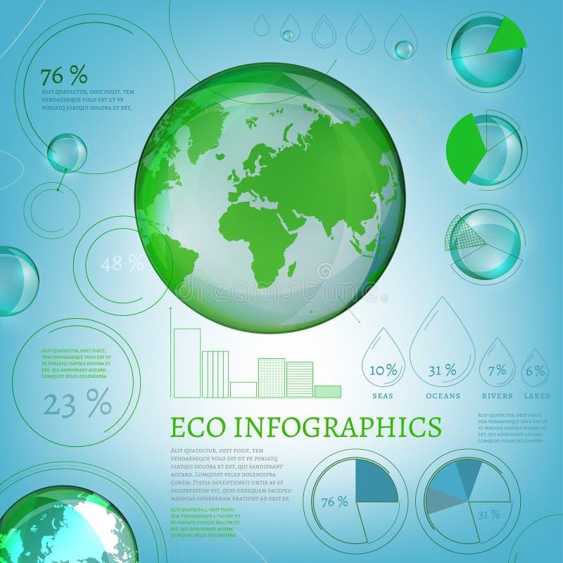 Bio mundo de 01 Infographics ilustração royalty free