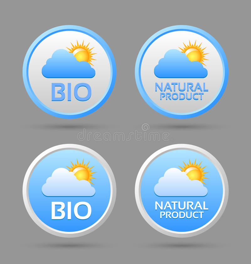 Download Bio And Natural Product Badge Icons Stock Vector - Image: 27719658