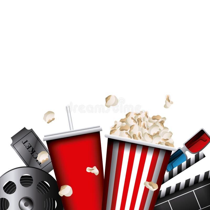 Bio- och filmdesign vektor illustrationer