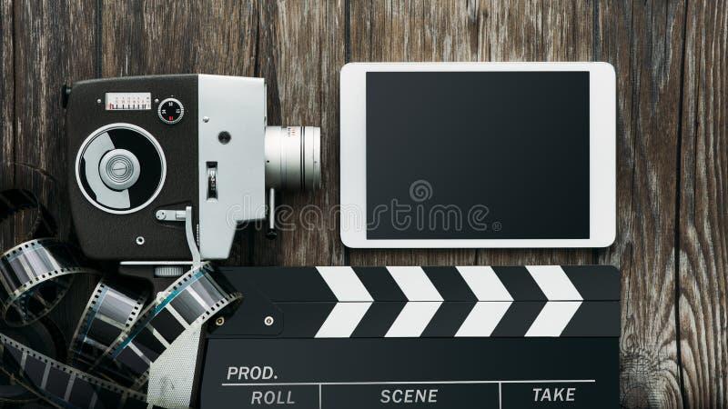 Bio- och filmproduktion royaltyfri bild