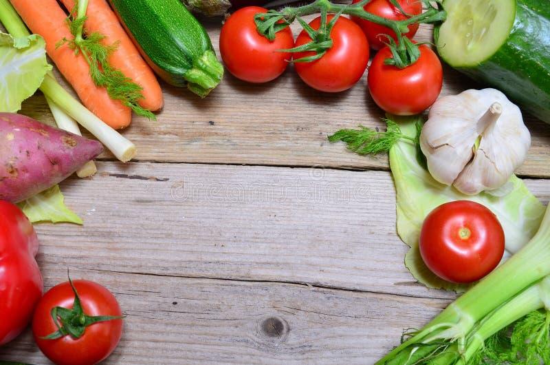 Bio oferta do painel dos vegetais imagem de stock