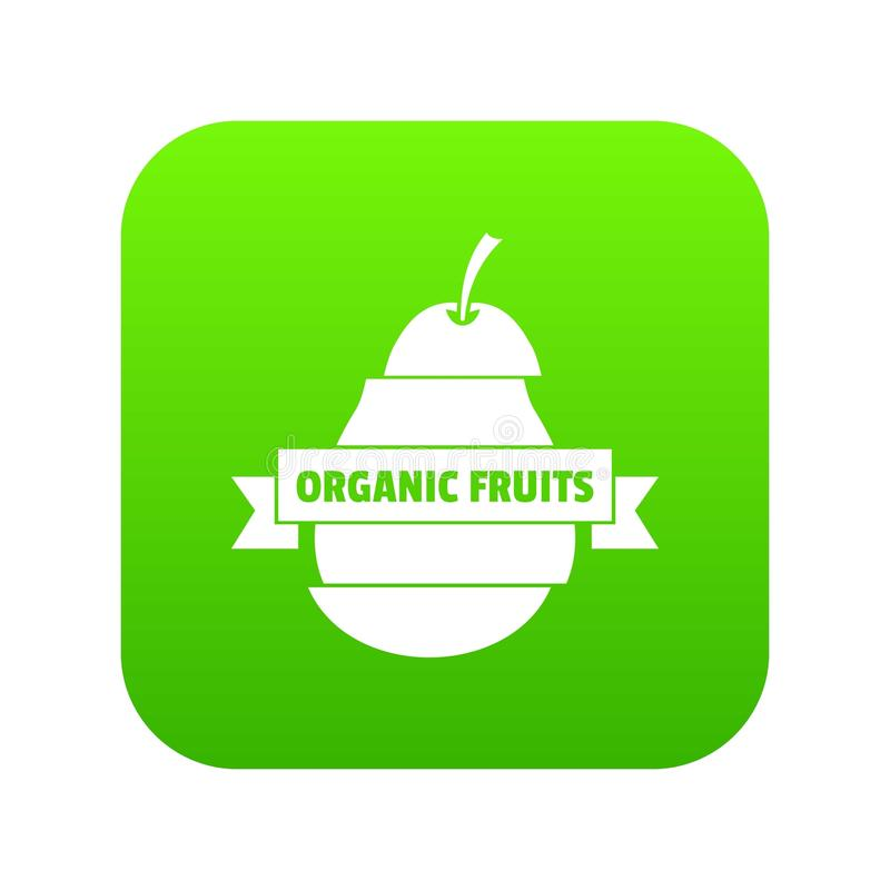 Bio organic fruits icon green vector vector illustration