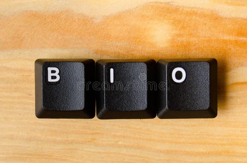 Bio- parola fotografia stock